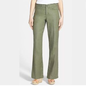 NYDJ Wylie Trouser Pants Stretch Linen 5 Pocket